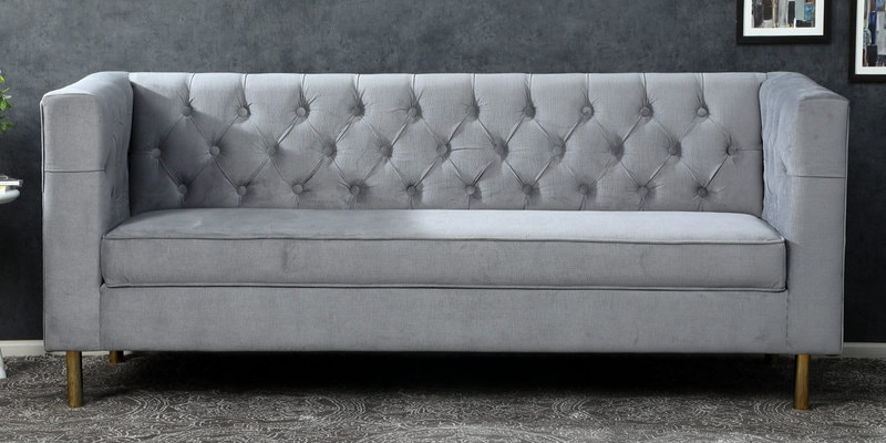 Scarlett Blue Sofas Within Recent Buy Scarlett 3 Seater Sofa In Grey Colour – Casacraft (View 10 of 20)