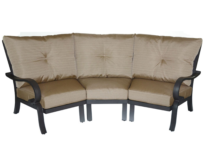 Scarlett Blue Sofas Within Recent Scarlett 3pc Curved Sofa With Cushions (View 5 of 20)