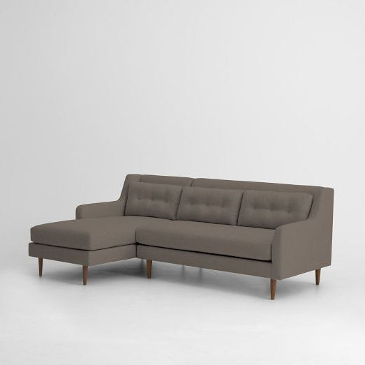Sectional Pertaining To Dulce Mid Century Chaise Sofas Dark Blue (View 14 of 20)