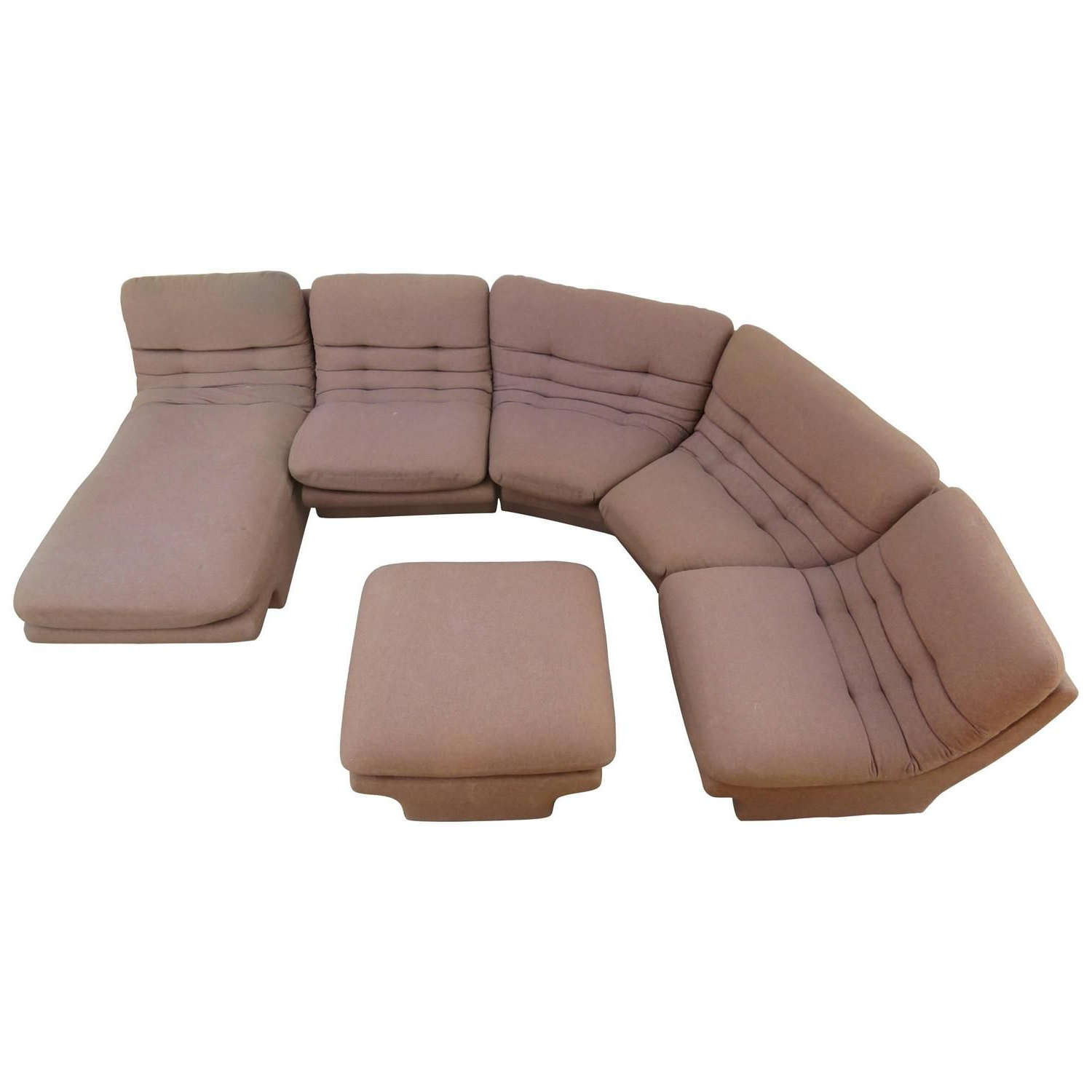 Sectional Regarding Florence Mid Century Modern Right Sectional Sofas Cognac Tan (View 13 of 20)