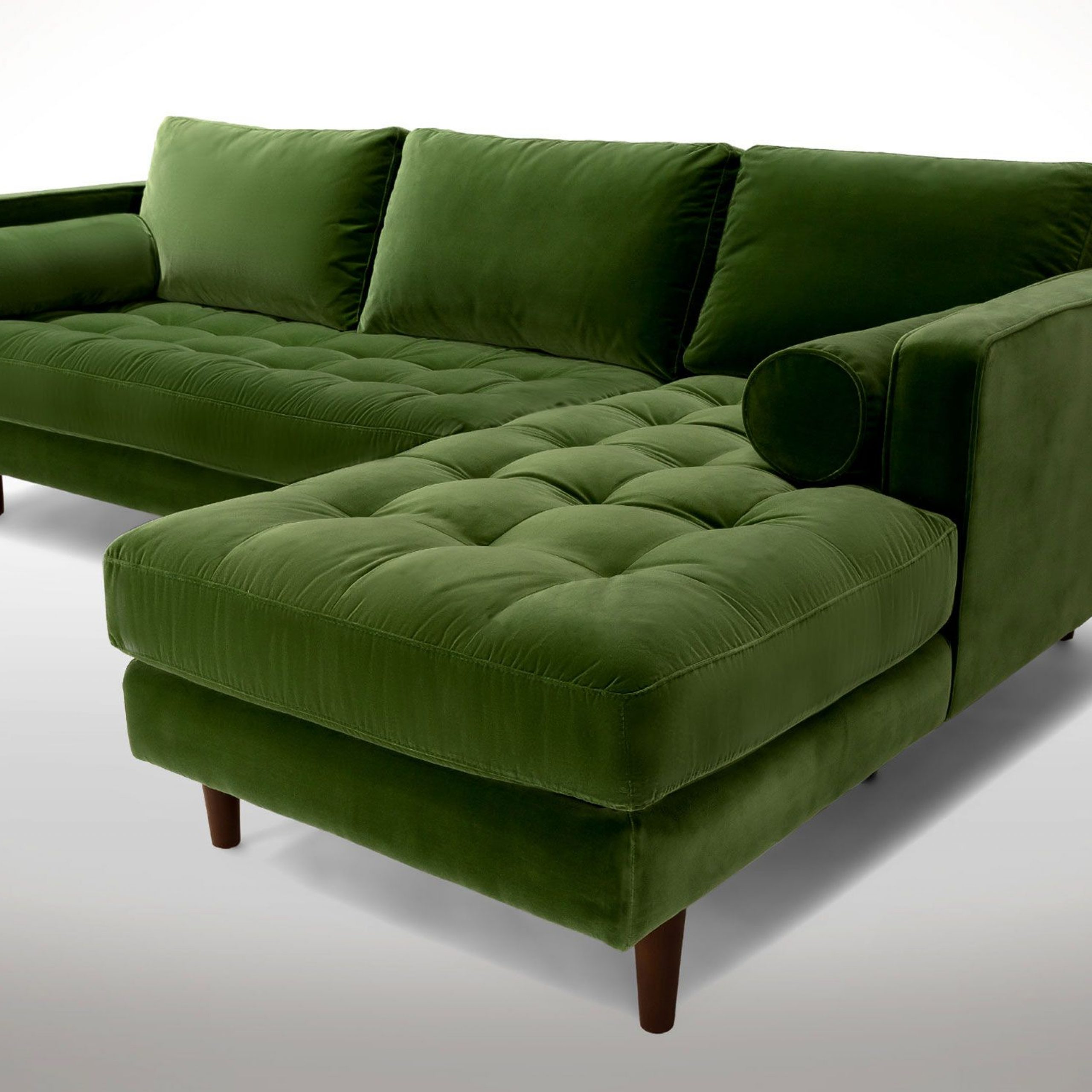 Sectional Sofa With Preferred Dulce Mid Century Chaise Sofas Dark Blue (View 15 of 20)