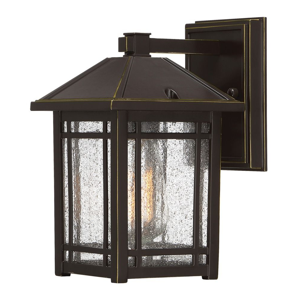 Seeded Glass Outdoor Wall Light Bronze Quoizel Lighting Intended For Famous Robertson 2 – Bulb Seeded Glass Outdoor Wall Lanterns (View 15 of 20)