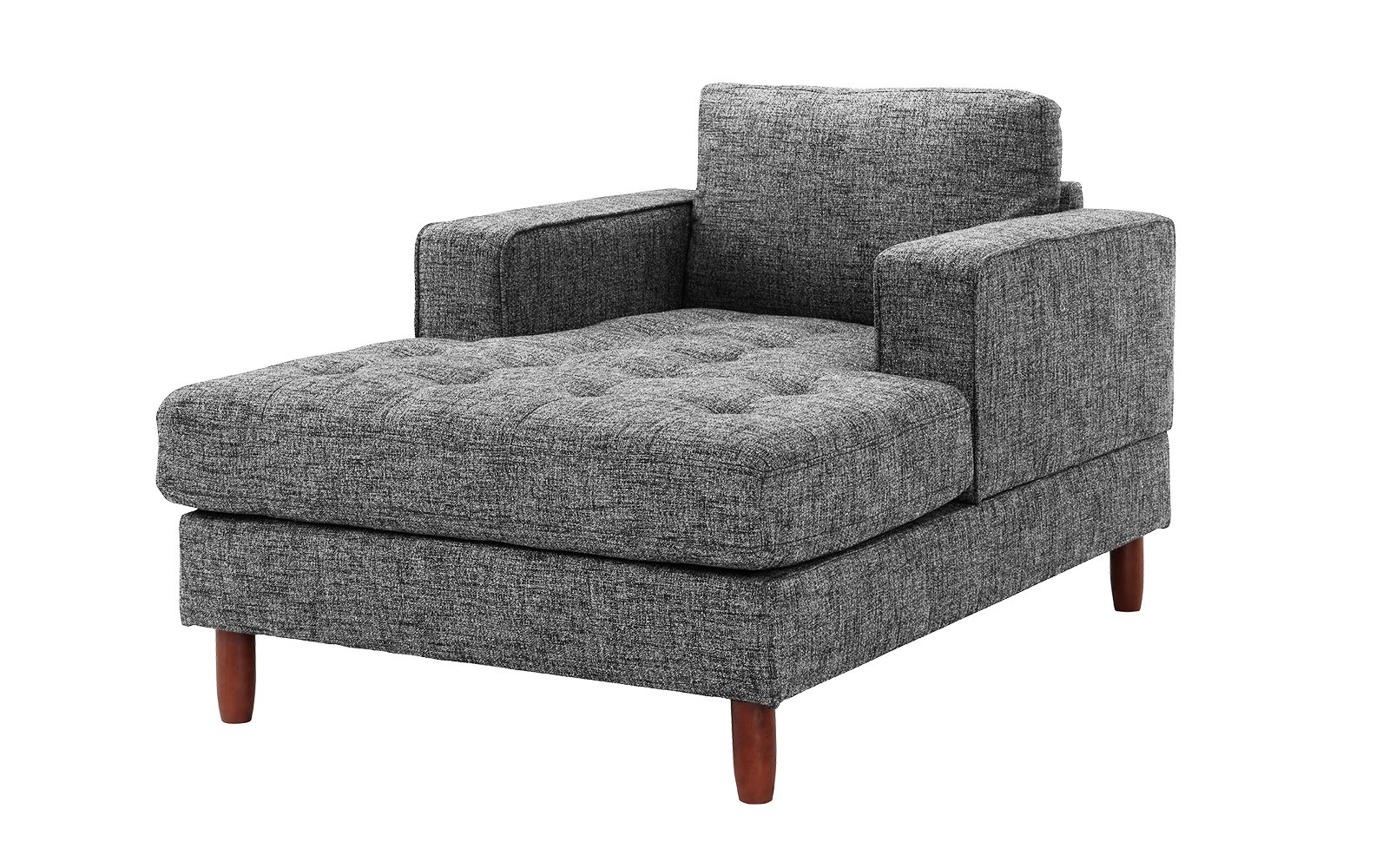 Setoril Modern Sectional Sofa Swith Chaise Woven Linen Throughout Favorite Mid Century Modern Linen Fabric Living Room Chaise Lounge (View 14 of 20)