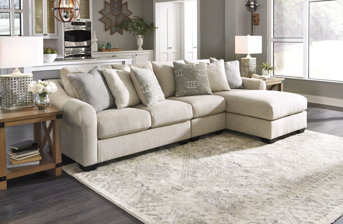 Setoril Modern Sectional Sofa Swith Chaise Woven Linen With Most Current Carnaby Sofa Chaise (View 15 of 20)