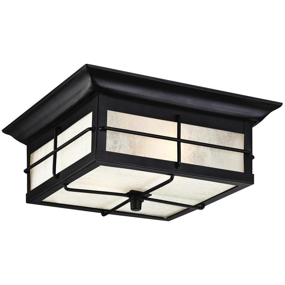 Sheard Textured Black 2 – Bulb Wall Lanterns Inside Most Up To Date Westinghouse Orwell 2 Light Textured Black Outdoor (View 3 of 20)