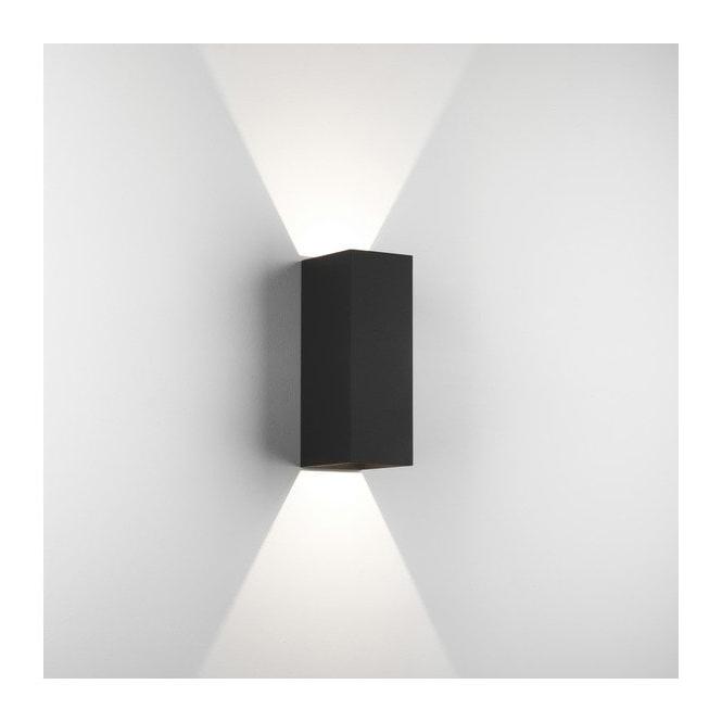 Sheard Textured Black 2 – Bulb Wall Lanterns Within 2019 Astro Lighting 1298007 Oslo 225 Led 2 Light Bathroom Wall (View 18 of 20)