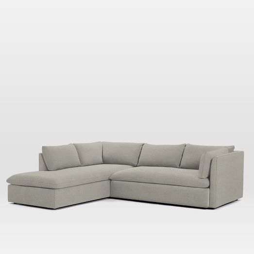 Shelter Set 1  Left Arm Sofa, Right Arm Terminal Chaise With Popular Dulce Right Sectional Sofas Twill Stone (View 14 of 20)