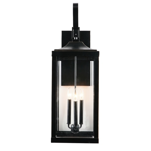 Shop 3 Light Outdoor Wall Lantern In Imperial Black – Free Inside Most Recent Clarence Black Outdoor Wall Lanterns (View 19 of 20)