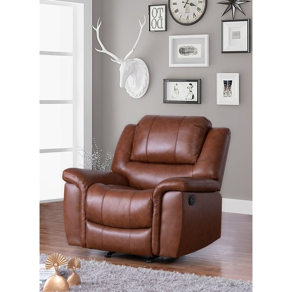 Shop Copper Grove Forbach Top Grain Leather Recliner Within Most Current Colby Manual Reclining Sofas (View 5 of 20)