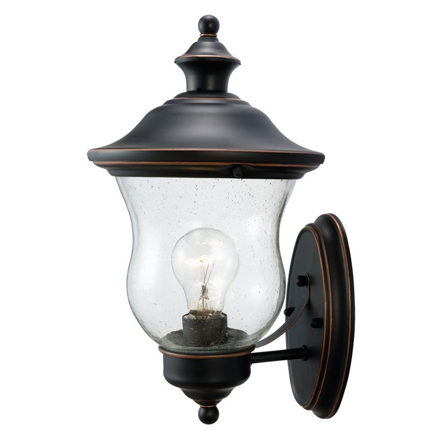 Shop Design House Highland 13 In H Oil Rubbed Bronze Within Most Popular Jordy Oil Rubbed Bronze Outdoor Wall Lanterns (View 12 of 20)