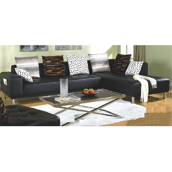 Shop Furniture Of America Ibiza 3 Piece Bicast Leather Throughout Famous 3pc Miles Leather Sectional Sofas With Chaise (View 13 of 20)