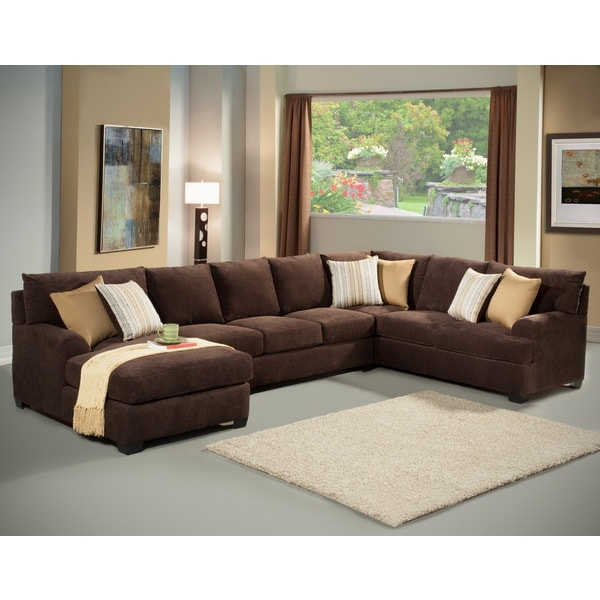 Shop Furniture Of America Zian 3 Piece Modern Micro Denier Pertaining To Most Current 3pc Polyfiber Sectional Sofas With Nail Head Trim Blue/gray (View 13 of 20)