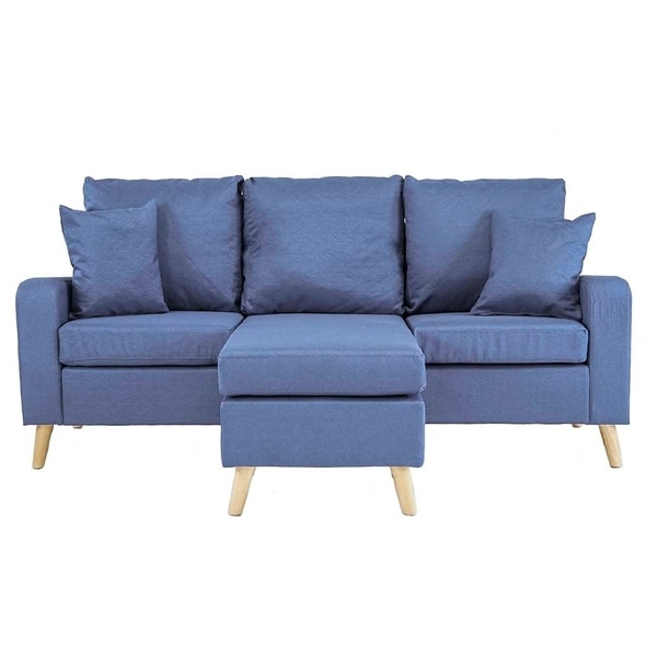 Shop Mid Century Style Small Space Reversible L Shape Within Trendy Verona Mid Century Reversible Sectional Sofas (View 12 of 20)