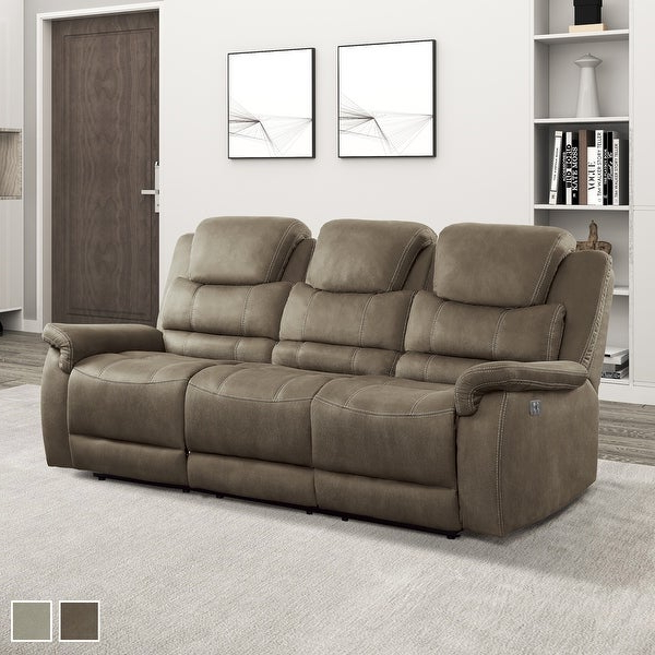Shop Rosnay Power Double Reclining Sofa With Drop Down Cup Pertaining To Current Titan Leather Power Reclining Sofas (View 14 of 20)