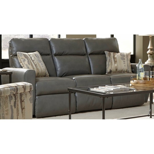 Shop Southern Motion's Knockout Power Double Reclining Inside Famous Titan Leather Power Reclining Sofas (View 13 of 20)