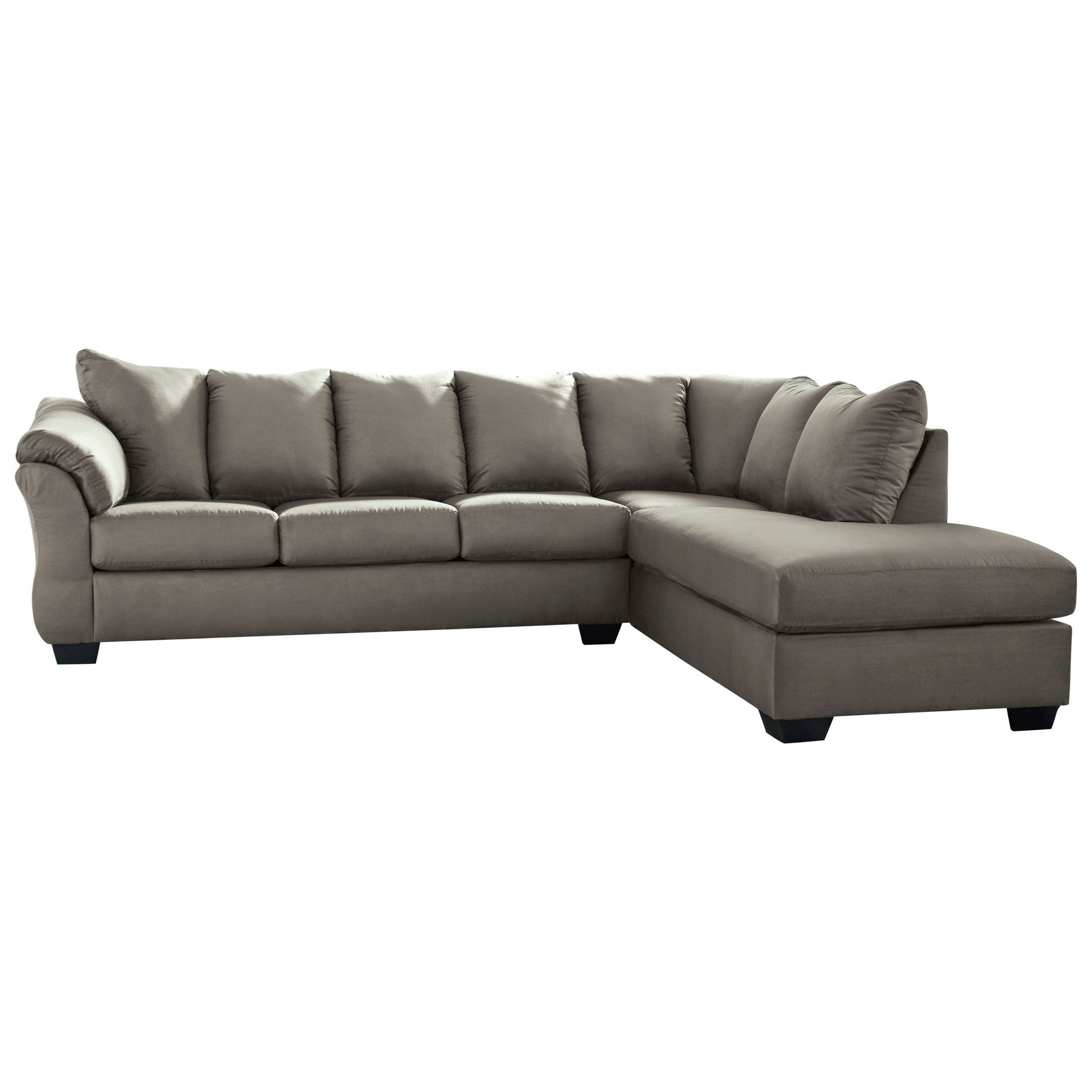 Signature Designashley Darcy – Cobblestone Pertaining To Recent 2pc Burland Contemporary Chaise Sectional Sofas (View 18 of 20)
