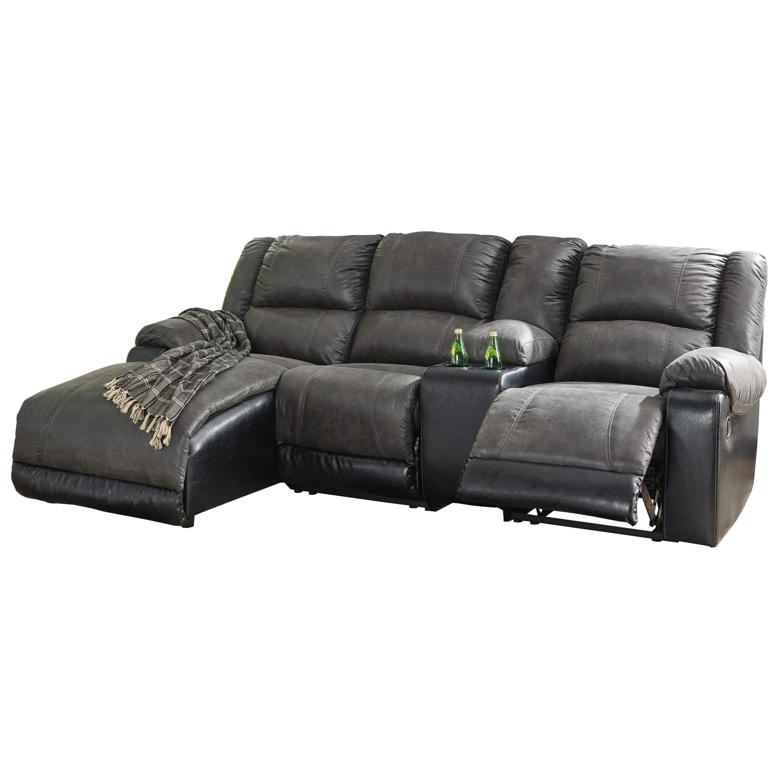 Signature Designashley Nantahala Reclining Chaise Sofa With Regard To Recent Palisades Reclining Sectional Sofas With Left Storage Chaise (View 17 of 20)