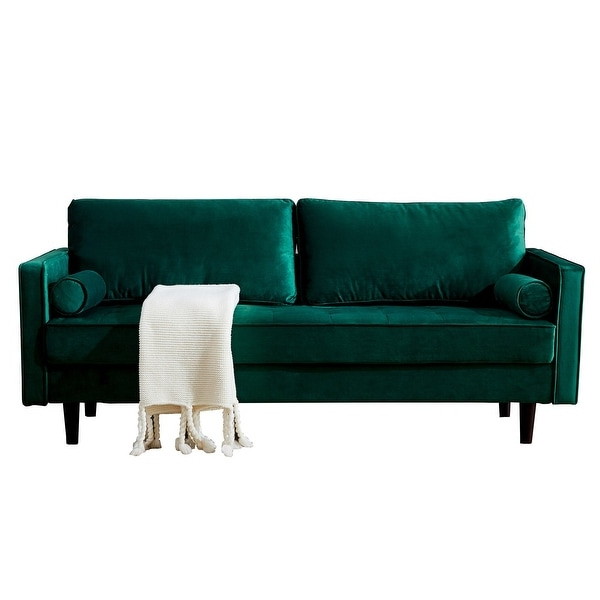 Somerset Velvet Mid Century Modern Right Sectional Sofas Inside 2018 Mid Century Modern Velvet Fabric Bench Sectional Couch (View 7 of 20)