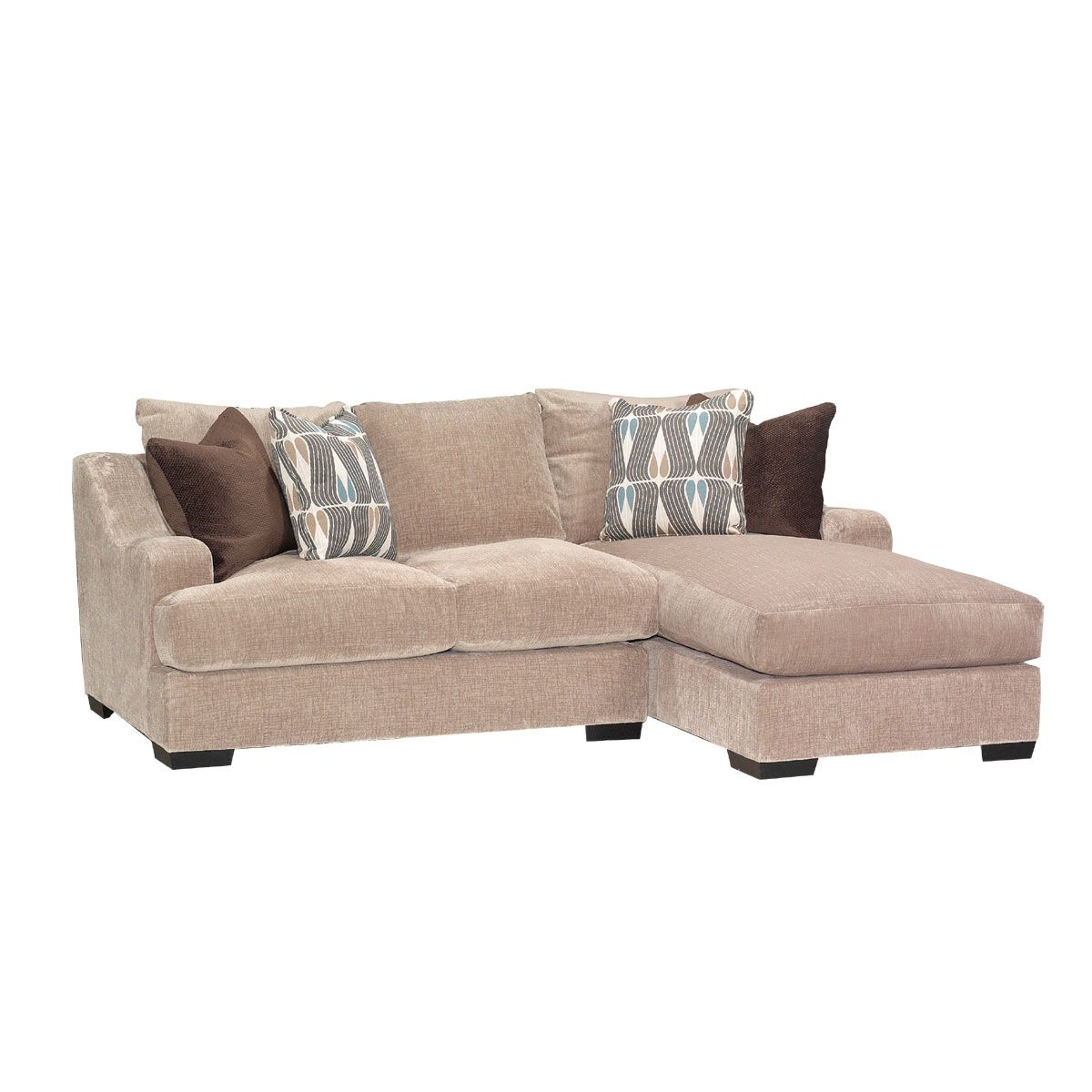 Stone Brown Casual Contemporary 2 Piece Sectional Throughout Recent 2pc Maddox Right Arm Facing Sectional Sofas With Chaise Brown (View 10 of 20)
