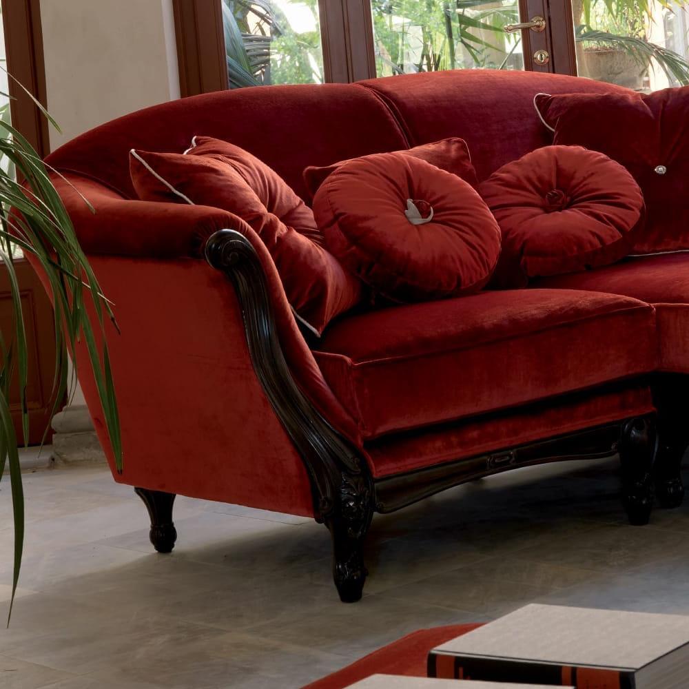 Strummer Velvet Sectional Sofas Throughout Trendy Luxury Red Velvet Italian Designer Sectional Sofa (View 17 of 20)