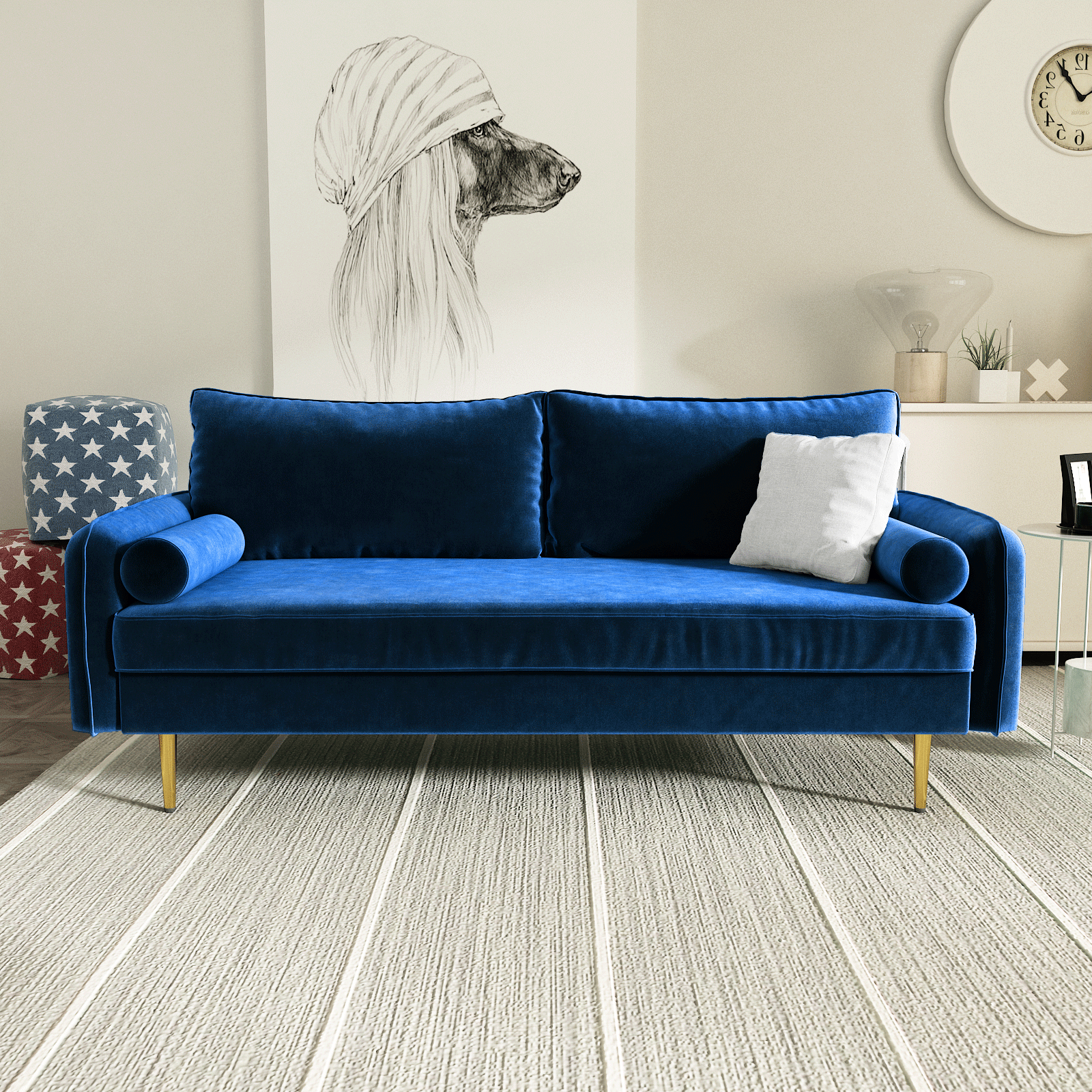 Strummer Velvet Sectional Sofas Throughout Well Liked Maryjanet Velvet Sofa Range In Space Blue Ifurniture The (View 14 of 20)