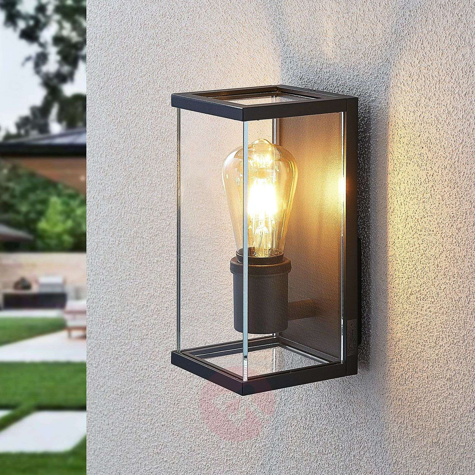 Susanne Outdoor Wall Light, Angular, Glazed (View 6 of 20)