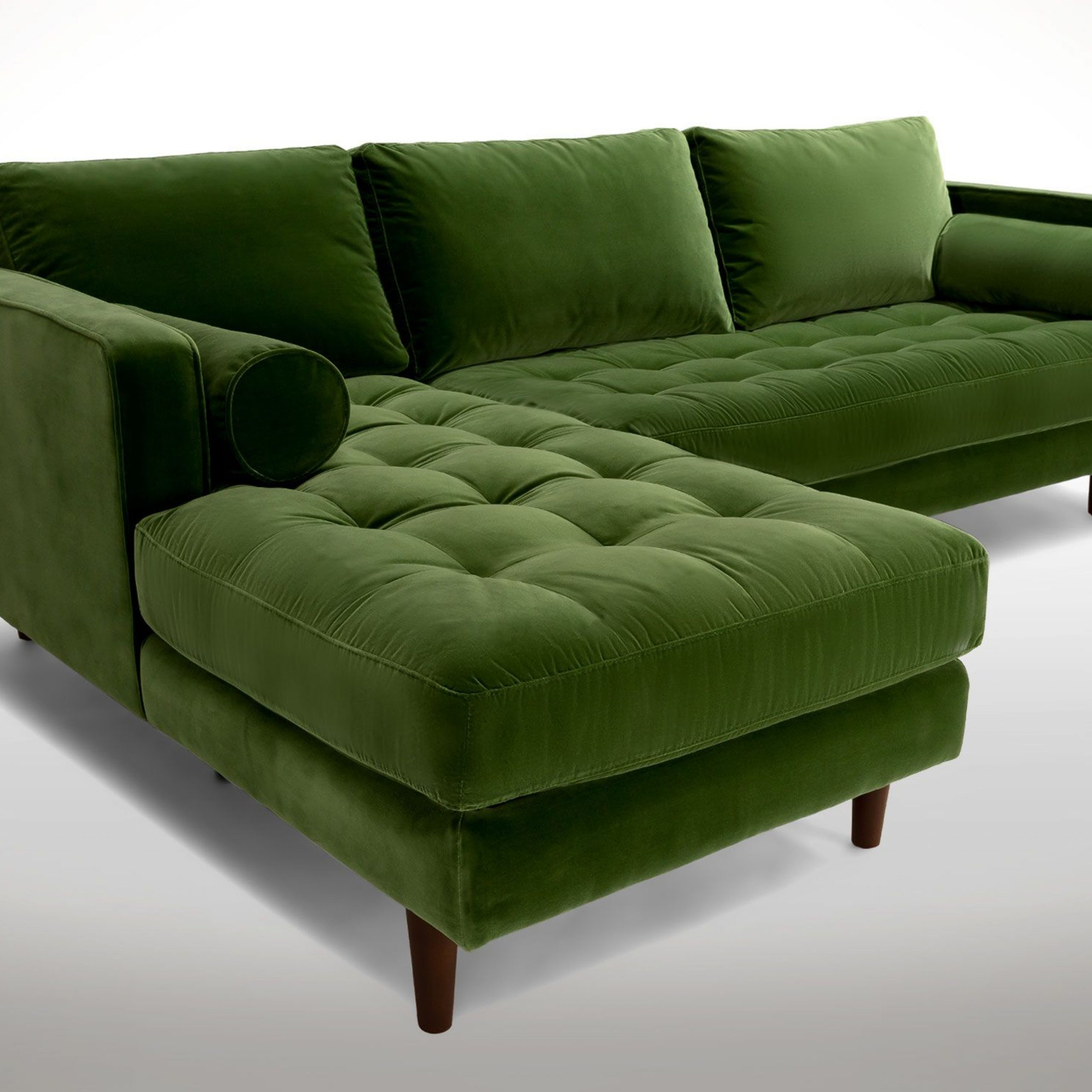 Sven Grass Green Right Sectional Sofa (View 10 of 20)