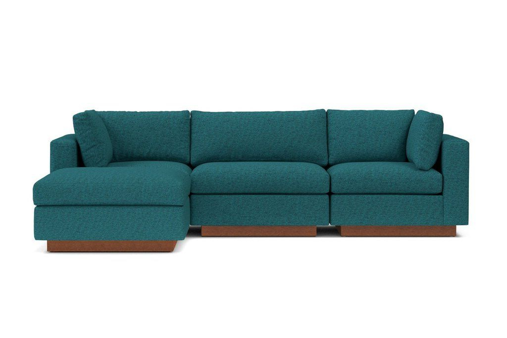 Taylor Plush 4pc Modular Chaise Sectional Sofa :: Leg Pertaining To Most Popular 4pc Beckett Contemporary Sectional Sofas And Ottoman Sets (View 18 of 20)