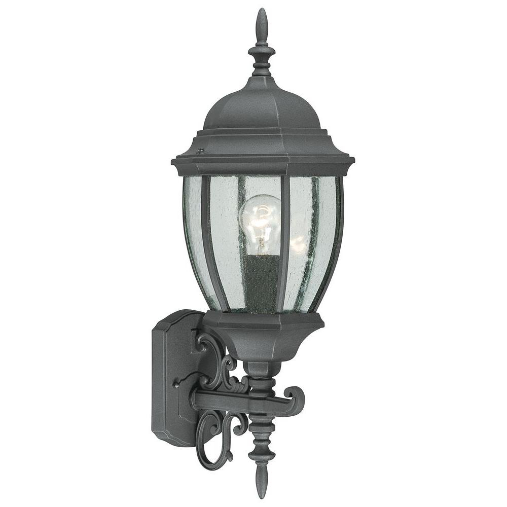 Thomas Lighting Covington 1 Light Black Outdoor Wall Mount With Best And Newest 1 – Bulb Outdoor Wall Lanterns (View 5 of 20)