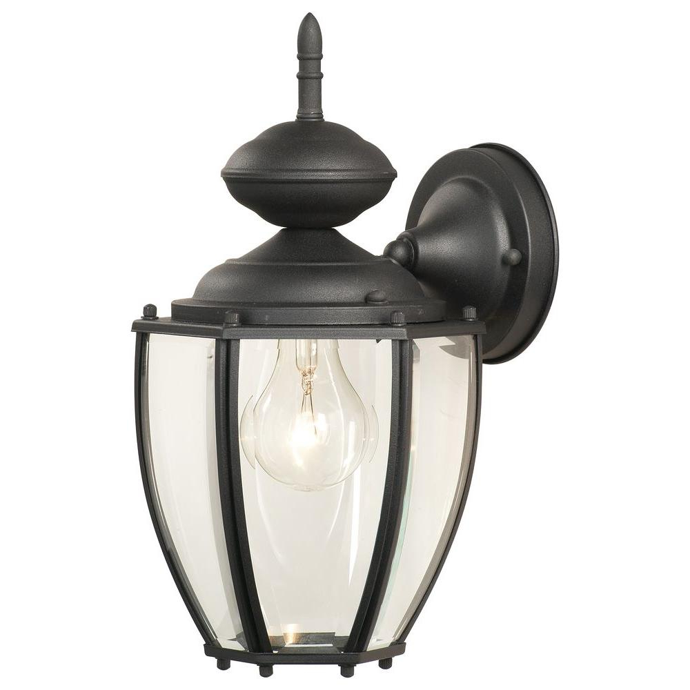 Thomas Lighting Park Avenue 1 Light Black Outdoor Wall Pertaining To 2019 1 – Bulb Outdoor Wall Lanterns (View 17 of 20)