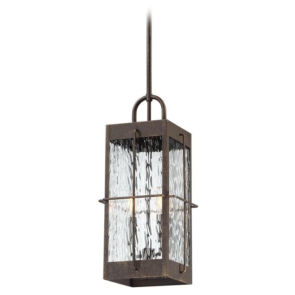 Tilley Olde Bronze Water Glass Outdoor Wall Lanterns Pertaining To Latest Quoizel Ward Gilded Bronze Outdoor Hanging Light With (View 3 of 20)