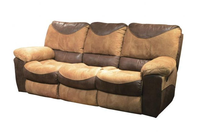 Titan Leather Power Reclining Sofas In Fashionable Catnapper Portman Power Reclining Sofa In Saddle Off (View 10 of 20)