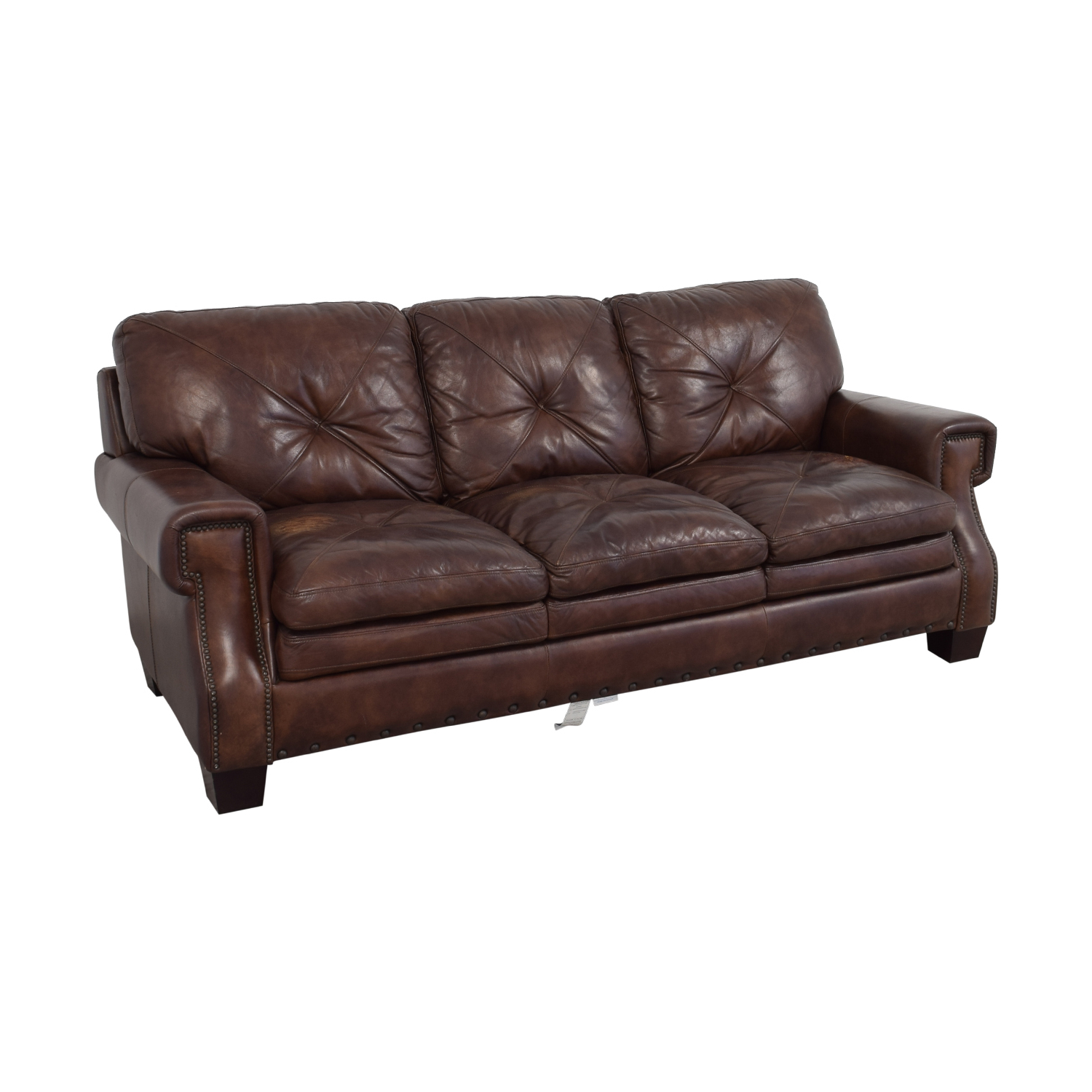 Trailblazer Gray Leather Power Reclining Sofas In Well Known Bobs Furniture Leather Sofa : Trailblazer Gray Leather (View 5 of 20)