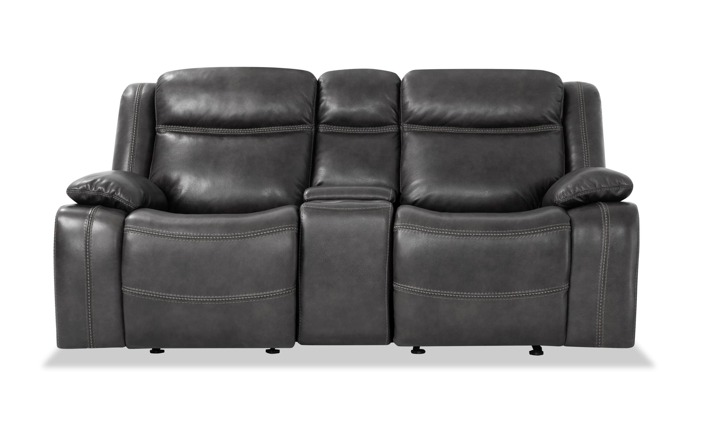 Trailblazer Gray Leather Power Reclining Sofas Throughout Most Recently Released Olympus Gray Leather Power Reclining Loveseat Bob S (View 1 of 20)