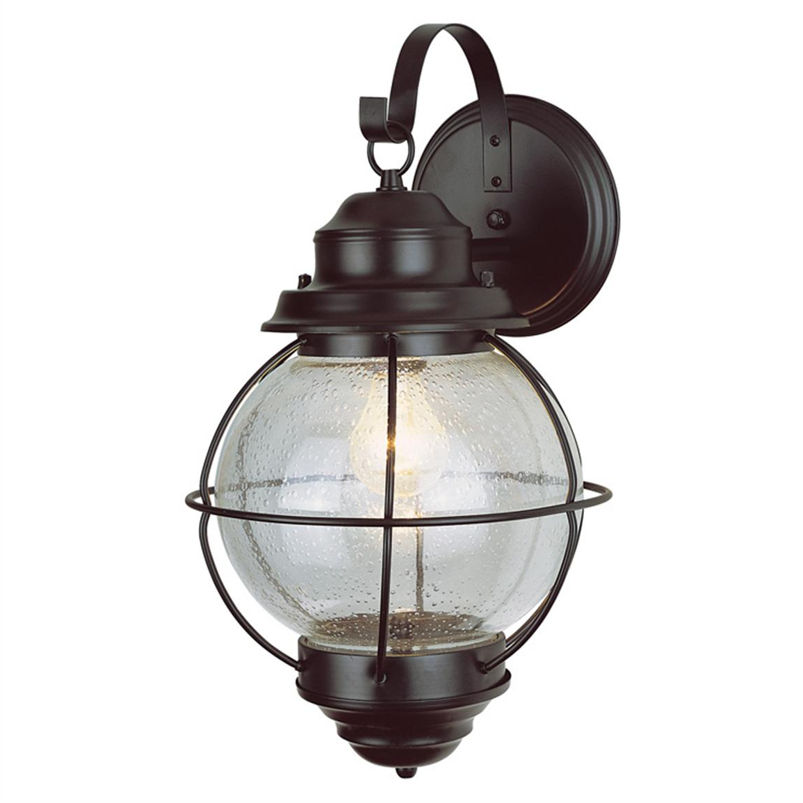 Trans Globe Lighting 1 – Light Outdoor Black Onion Wall With Recent Heitman Black Wall Lanterns (View 10 of 20)