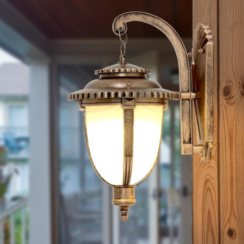 Trendy 1 – Bulb Outdoor Wall Lanterns With Regard To Balcony 1 Piece Outdoor Wall Lights Glass Lantern Garden (View 15 of 20)