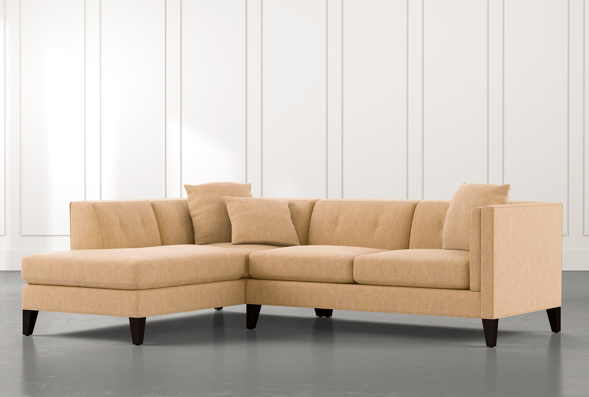 Trendy 2pc Connel Modern Chaise Sectional Sofas Black Within Avery Ii Yellow 2 Piece Sectional Sofa With Right Arm (View 12 of 20)