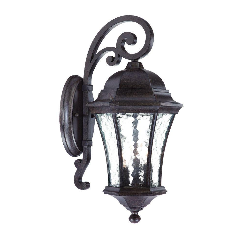 Trendy Acclaim Lighting Waverly Collection 3 Light Black Coral In Garneau Black Wall Lanterns (View 14 of 20)