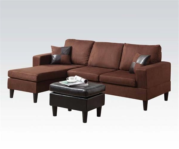 Trendy Acme Furniture Robyn Reversible Chaise Sectional And Inside Clifton Reversible Sectional Sofas With Pillows (View 8 of 20)
