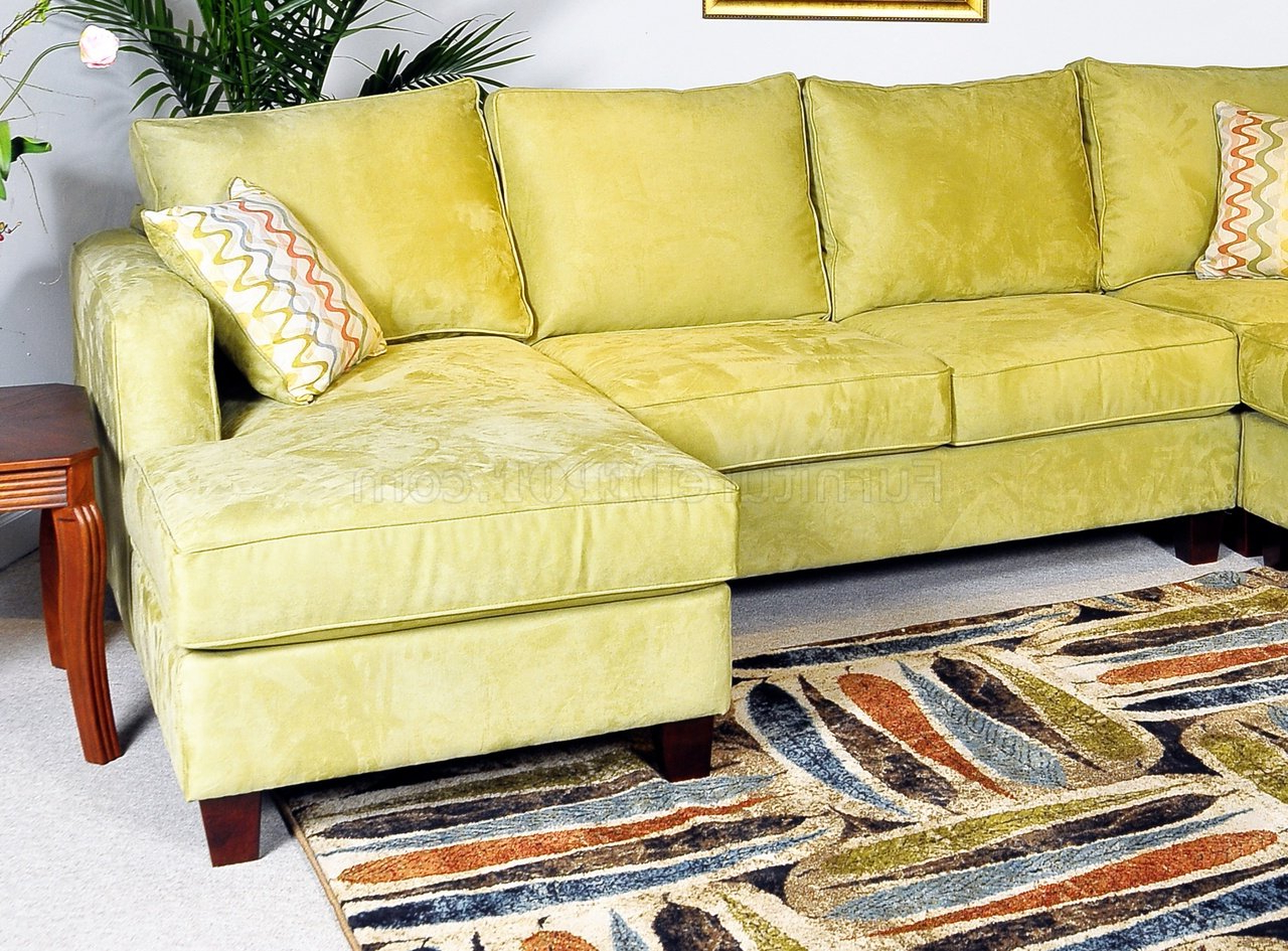Trendy Apple Fabric Contemporary 4pc Sectional Sofa W/wooden Legs With 4pc Beckett Contemporary Sectional Sofas And Ottoman Sets (View 1 of 20)