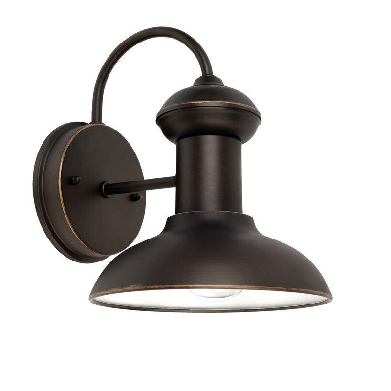 Trendy Beachcrest Home Crandallwood Indoor/outdoor Barn Light Pertaining To Crandallwood Wall Lanterns (View 6 of 20)