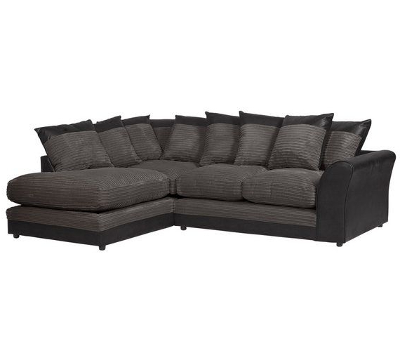 Trendy Buy Home Harley Large Fabric Right Hand Corner Sofa In Katie Charcoal Sofas (View 10 of 20)