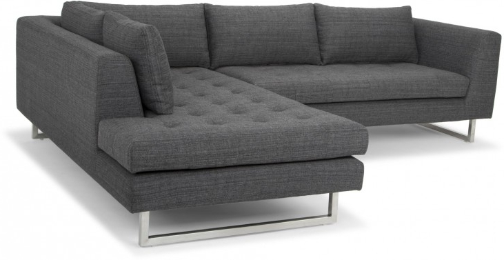 Trendy Camila Poly Blend Sectional Sofas Off White Inside Janis Dark Grey Tweed Raf Sectional Sofa From Nuevo (View 13 of 20)