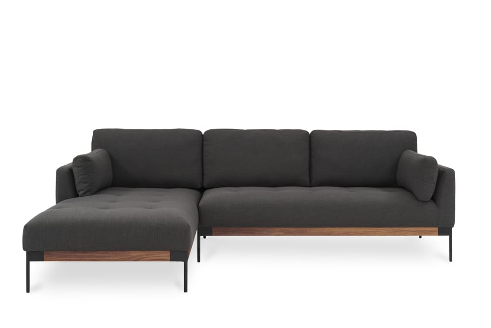 Trendy Dulce Right Sectional Sofas Twill Stone Inside Ethan Chaise Sectional Sofa, Right Facing, Stone Grey (View 8 of 20)