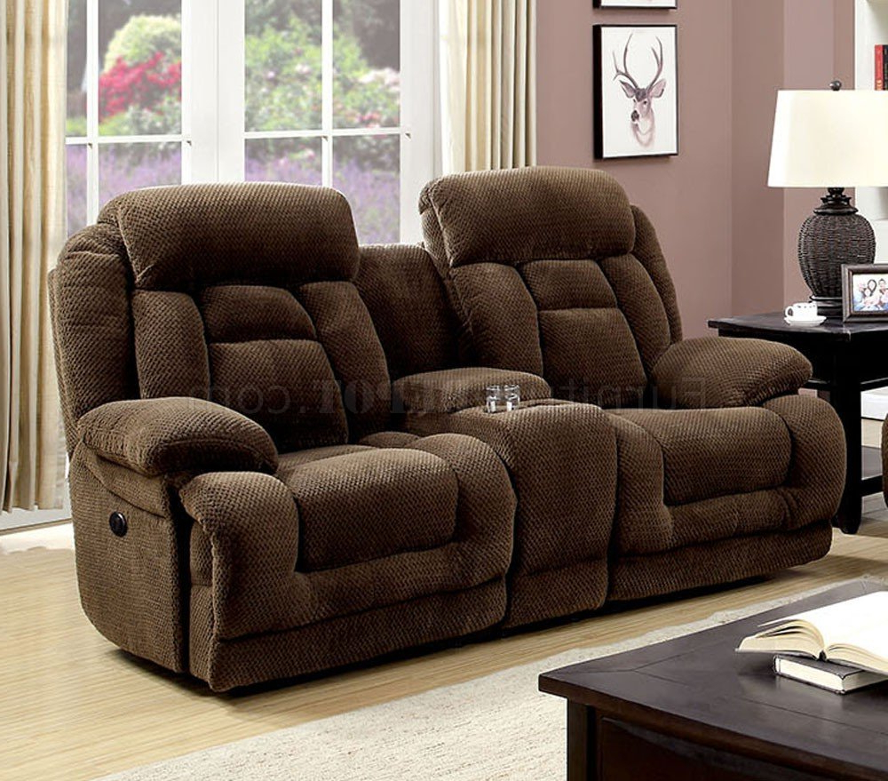 Trendy Grenville Power Reclining Sofa Cm6010pm In Brown Fabric W Pertaining To Power Reclining Sofas (View 12 of 20)