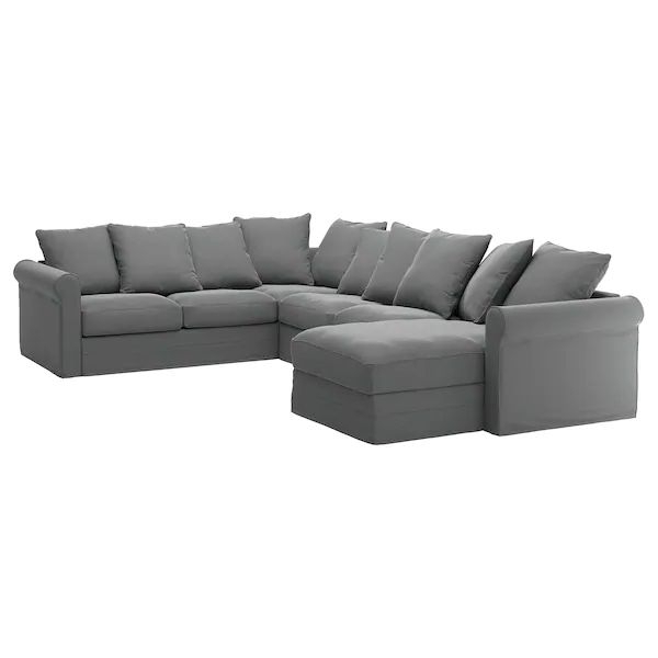 Trendy Harmon Roll Arm Sectional Sofas Within Grönlid Sectional, 5 Seat Corner, With Chaise/ljungen (View 2 of 20)