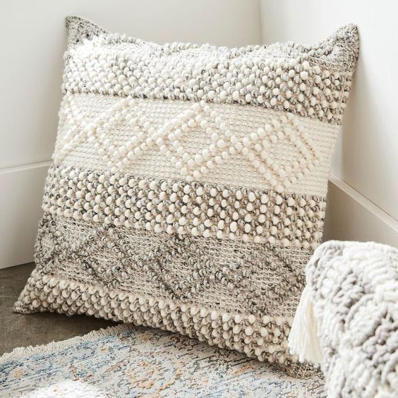 Trendy Indian Handwoven Pillow Cover 18 X 18 Cushion Cover Inside Magnolia Sectional Sofas With Pillows (View 8 of 20)