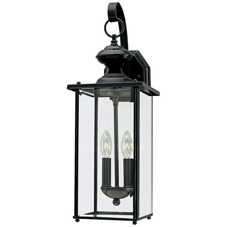 """Trendy Jamestowne 20 1/4"""" High Black 2 Light Led Outdoor Wall Inside Chicopee 2 – Bulb Glass Outdoor Wall Lanterns (View 17 of 20)"""