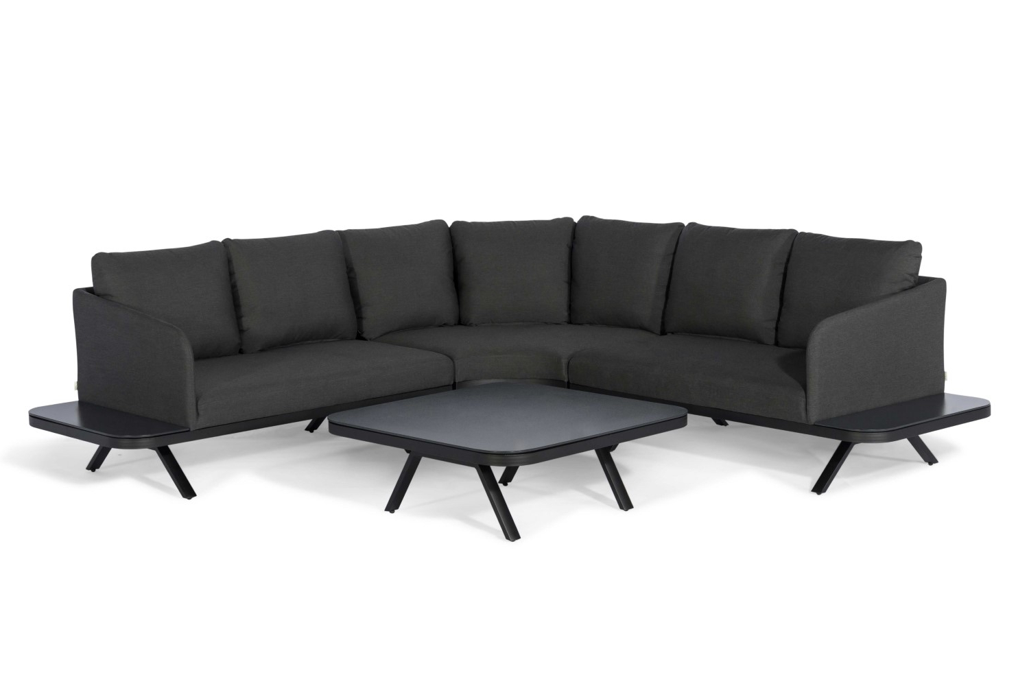 Trendy Katie Charcoal Sofas With Regard To Maze Rattan – Cove Corner Sofa Group – Charcoal – Ls Living (View 8 of 20)