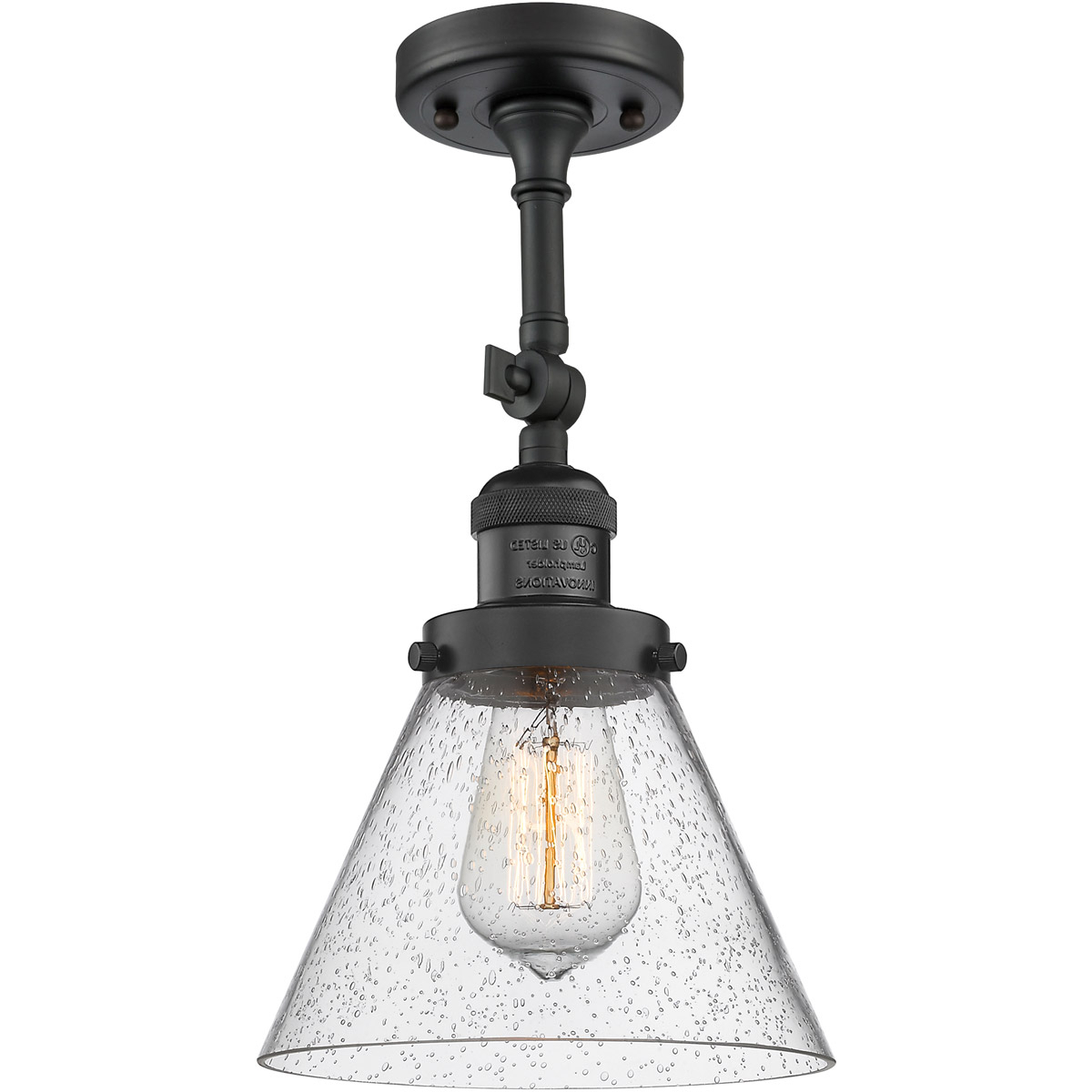 Trendy Keikilani Matte Black Wall Lighting Intended For Innovations Lighting 203 Bk G44 Led Large Cone Wall Sconce (View 2 of 20)